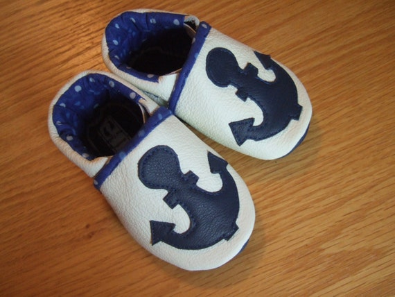 anchor 4th of July nautical baby shoes size 3 6 months