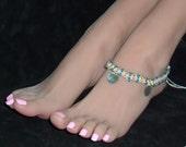 Hemp Anklet Sea Glass