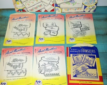 Lot of 8 Aunt Martha's and Vogart Hot Iron Transfers