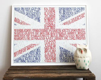 All Things British Typographic Art Print