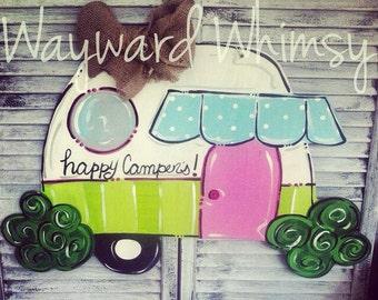 Camper Happy  Campers Door hanger