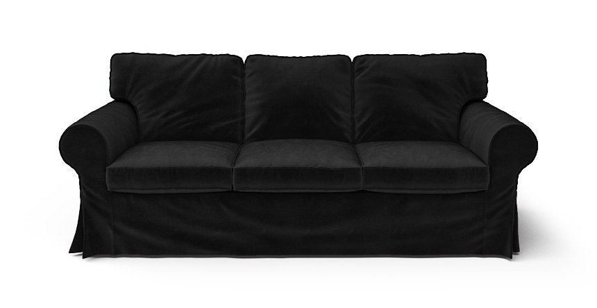 Ikea Ektorp 3 Seater Sofa Slipcover Only In Rouge Black Velvet