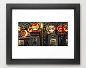 Wall Decor Photograph Print Vintage Retro Antique Gas Pumps 20x24