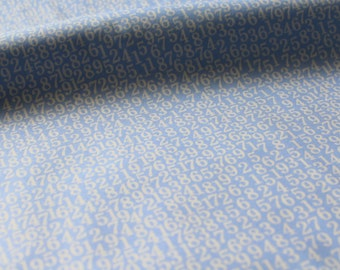 SALE Blue Numbers by Kei fabrics 2015-Japanese