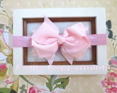 Baby headband, baby girl headband, newborn headband, toddler headband - Pink Bow Headband - Baby headband bow, Baby Bow Headband