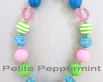 Baby chunky necklace,girl bead necklace, toddler girl necklace, bubblegum necklace, colorful girl necklace, toddler jewelry