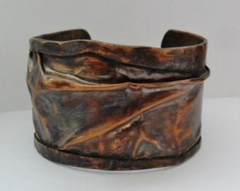 Fold Formed Mens or Womens Copper Cuff Bracelet