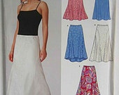 Misses' Easy Pull On Skirts, New Look 6389 Sewing Pattern UNCUT Sizes 6-16