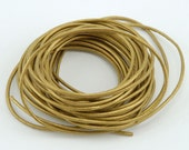 Gold Leather Cord - 5 yards
