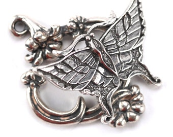 Sterling Silver Butterfly Toggle Clasp