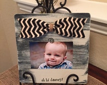 Personalized 4x6 rustic wood picture frame for daddy & me new dad grandpa papa gift wood I love daddy frame First Father's Day Gift Frame