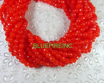 60 pcs beads 6mm round faceted dyed Neo Color Jade Full strand