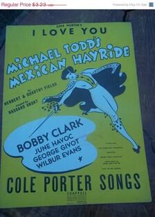 20 Sale 1943 Sheet Music I Love You Cole Porter Songs