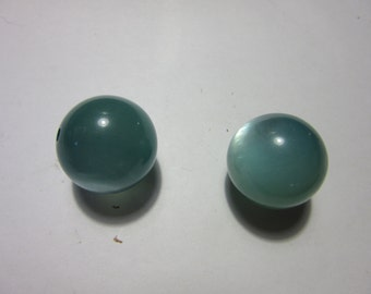Moonglows, lucite moonglow  Beads. BLUE AQUA MOONGLOW Lucite Beads,5 pcs  24mm, Bead Supplies, Jewelry supplies, beads