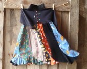 vintage funky retro little hippie girls dress // size 7/8
