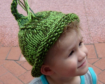 Elf Hat in Woodsy Green for children or adults