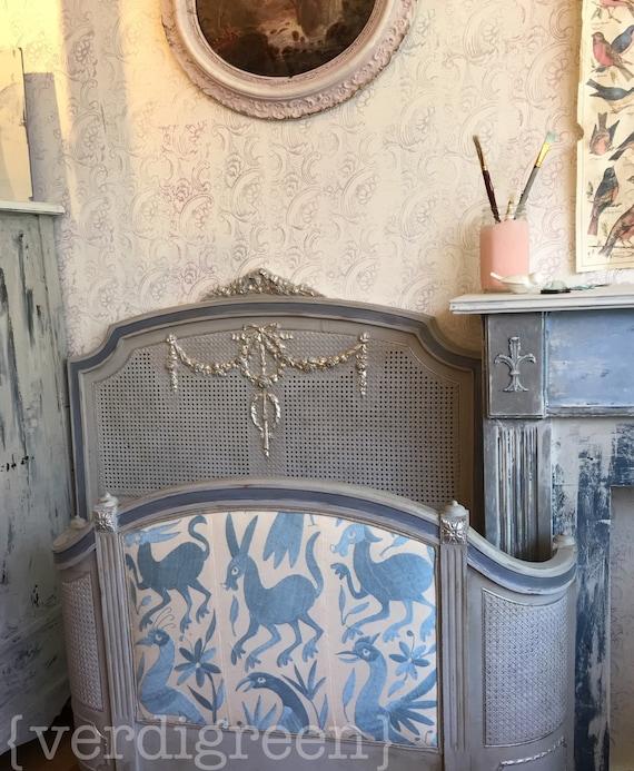 antikes franz sisches bett kopfteil und fu teil otom. Black Bedroom Furniture Sets. Home Design Ideas