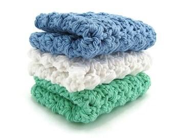 Crochet Washcloth - Washcloths Crochet - Handmade Wash cloth - Crocheted Dishcloth - Cotton Washrag - Dishrag Crochet - Cotton Dishcloths