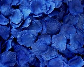 Silk Rose Petals Royal Blue 500 Wedding Decoration Flower Girl Reception Table