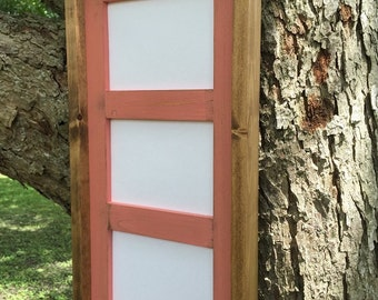 Multi Opening Picture Frame for 3 - 4 x 6 Pictures or Prints, Rustic Home Decor, Wooden Frames, Coral Picture Frame, Rustic Wood Frames