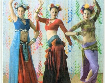 Belly Dancer - Bollywood Dancer Costume Sewing Pattern - Simplicity 3832 - Sizes 14-16-18-20 - Uncut