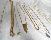 Lot of 8 Vintage Fashion Necklaces