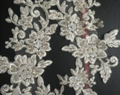 Ivory Bridal Lace applique - AppSet- 21 (Ivory with silver )
