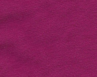 Solid Magenta 4 Way Stretch 9 oz Cotton Lycra Jersey Knit Fabric, 1 Yard