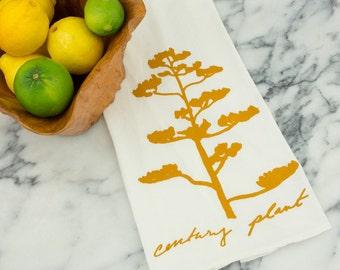 Century Plant Succulent Tea Towel