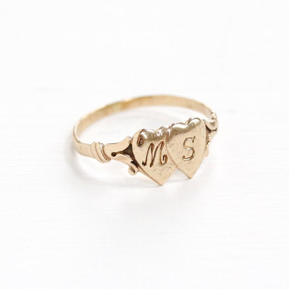 Ring With Initials Gold