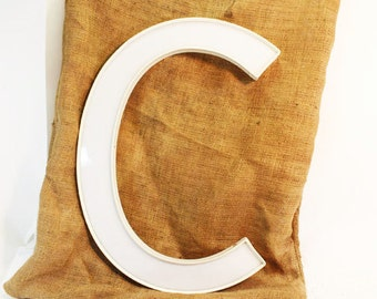 White Letter C, Upper case or Lower Case C