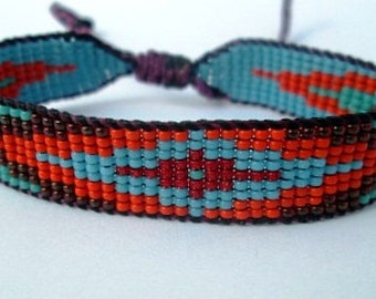 Huichol Native American Inspired Multi-Colored, Beaded Friendship Bracelet 105