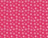 Santa Express Snowflakes Red by Doodlebug Designs for Riley Blake, 1/2 yard