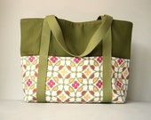 Handmade Large Canvas Tote Bag, Handmade Large Cotton Canvas Tote Bag, TOT69620