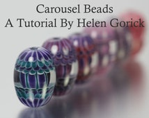 Lampwork Tutorial Including Short Video Guide & Colour Advice On Making Carousel Beads by Helen Gorick
