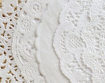 WHITE VARIETY PACK - Paper Doily in 4, 6, 8 or 10 Inch Sizes - You Choose The Doily Size & Quantity
