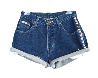 80's 90's High Rise Denim Shorts size - S