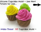 Silicone Mold Cupcake Cabochon Mold Charm Kawaii Silicone Mold Miniature Food Mould Fake Frosting