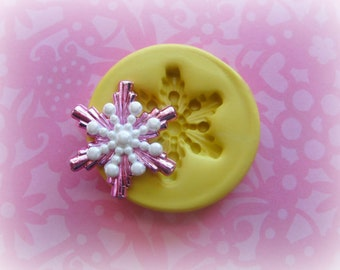 Snowflake Fondant Mold Christmas Decoden Cute Resin Mould Polymer Clay Mold