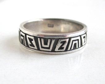 925 Sterling Silver Ring / Band - Size 11, Vintage, Unique Design
