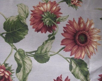Sun Flower Vintage Fabric 3 1/2 yards  71 inches wide