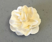 10 Mini Paper Flowers Vanilla