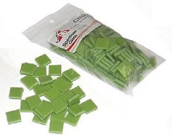 1/2 Inch Amazon Green Opal Fusible Glass Chips - 96 Coe Spectrum