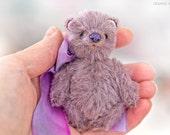 Artist mini teddy bear 2.7 inch OOAK