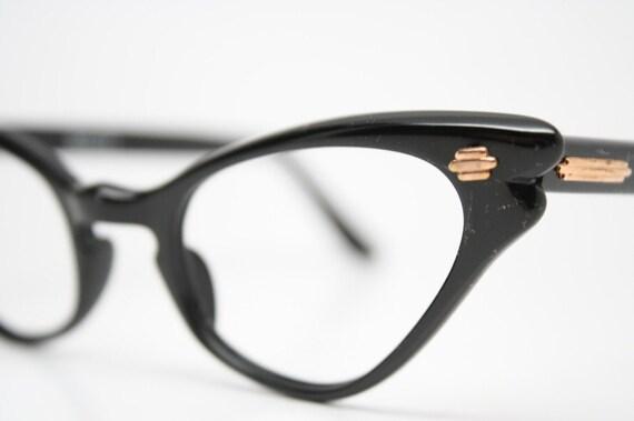 Black cat eye glasses vintage cateye by VintageOpticalShop