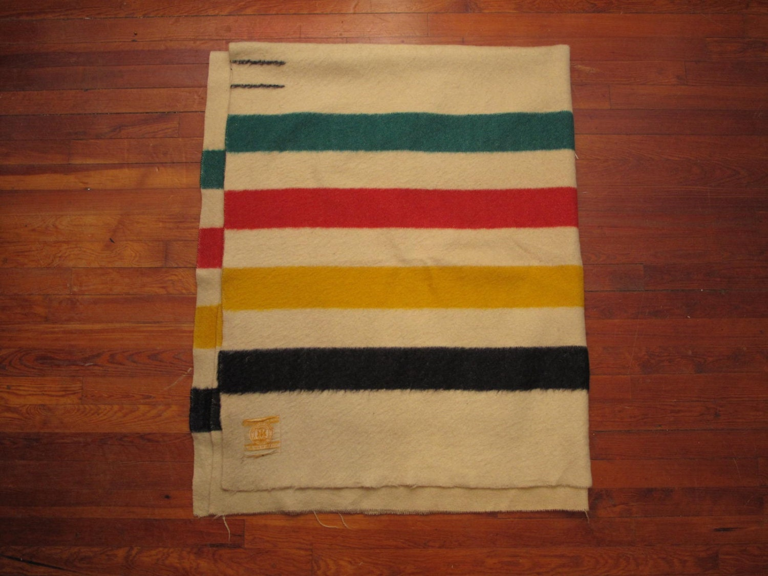Vintage Hudson Bay Blanket 3 5 Point By Countylinegeneral