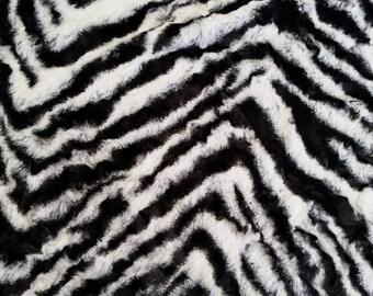 Minky Zebra Animal Print 1 Yard More Available