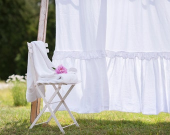 Ruffled Shower Curtain Double Ruffled