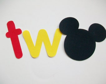 DIY No-Sew - Mickey Mouse Two Applique - Iron On