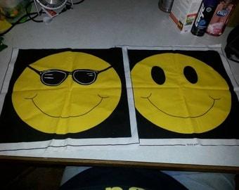 Fabric Smile Face Squares
